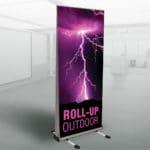roll-up na zewnątrz