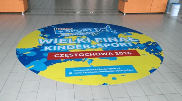 large format floor sticker for sport event