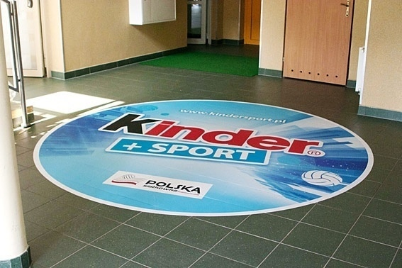 floor sticker for sport event