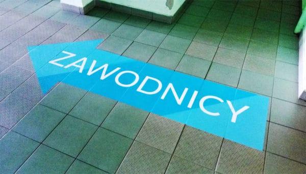 floor sticker with anti-slip laminate