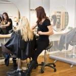 Osłona wolnostojąca dla salonu fryzjerskiego