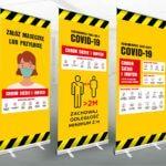 informacyjny roll-up baner covid koronawirus