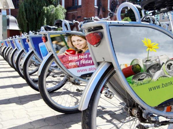 reklama na rowerach