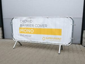 cheap crowd barrier banner